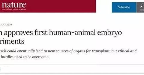 """日本批准首例""""人兽杂交胚胎实验"""",这是人类毁灭的前奏吗?"""