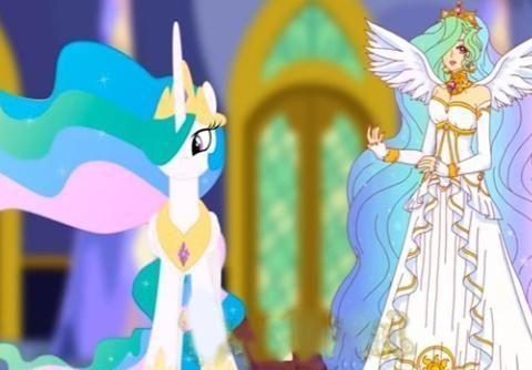 当彩虹小马参加宇宙公主的舞会,紫悦略显逊色