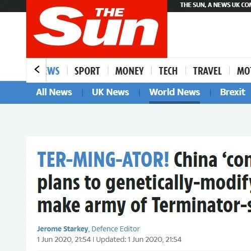 """科幻看多了?英砖家称中国改造士兵基因打造""""终结者""""部队..."""