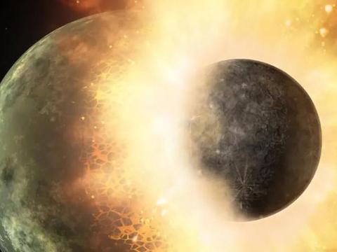 """更加确定!月球是由""""忒伊亚""""火星大的小天体,与地球撞击形成!"""