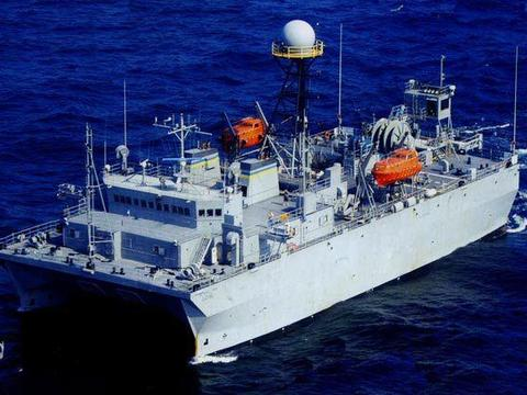 一东一西扼守关键海峡,美军间谍船玩出新花样,挑衅意味十分浓烈