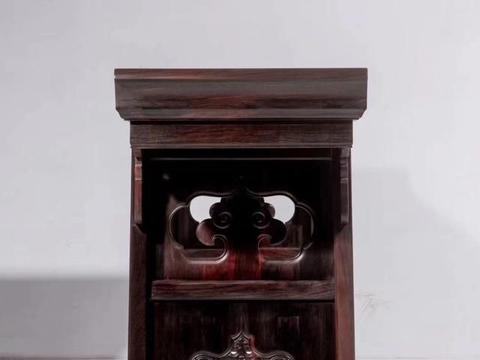大红酸枝,螭龙纹如意翘头案,明清红木家具