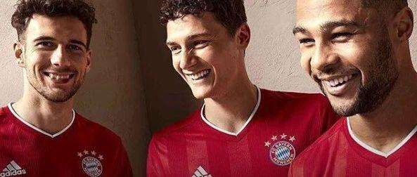 阿迪达斯发布拜仁2020-2021赛季主场球衣