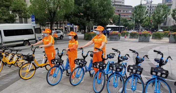 单车企业捐赠骑行卡,为环卫工人提供出行便利
