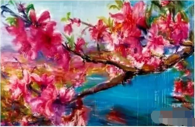 同是画桃花,周春芽一幅卖500万,农妇卖200元,差别在哪?