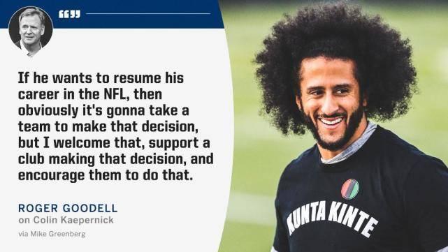 NFL总裁呼吁球队签下卡佩尼克:将由他领导联盟社会事业