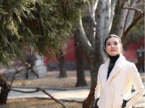"""王艳不愧是""""晴格格"""",羊羔毛大衣配针织衫,轻松穿出无限高级感"""