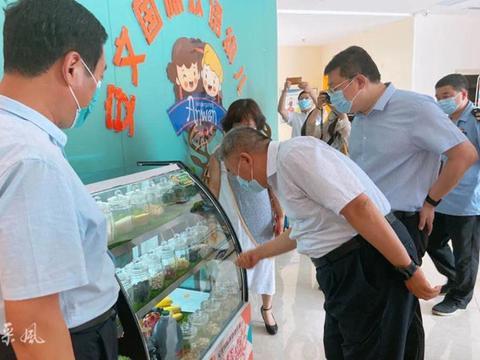 河南省市场监管局领导到安文国际幼儿园调研食堂管理及食品安全