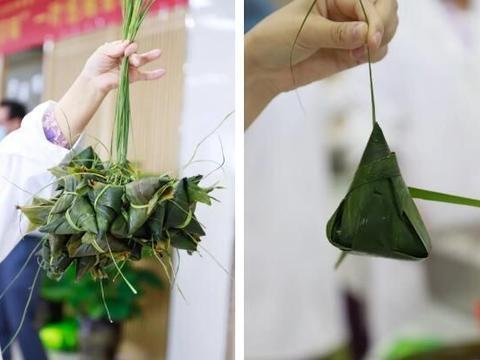 师生包粽子 共话端午节——西京学院给全校学生发粽子