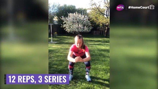WTA健身网课打卡:克雷吉兹科娃分享腿部锻炼动作💦