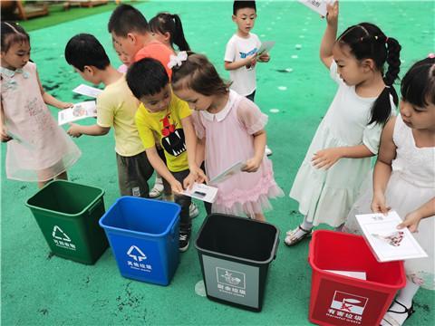 苏州市御窑社区志愿者走进幼儿园宣传垃圾分类知识
