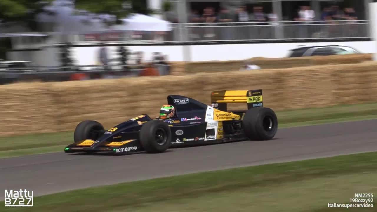 2019古德伍德速度节上的万转V12时代的F1赛车