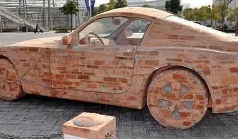 高手用砖头造宝马,堪称艺术品,咋没人造红旗车?