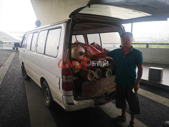 一辆车上27个气体钢瓶!杭州一男子非法运输危险品被查