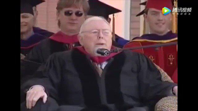 大神查理·芒格在南加州大学毕业典礼上的演讲……
