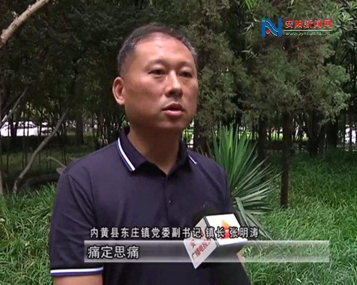"""""""双指数""""调查排名落后单位内黄县东庄镇相关负责人作表态发言"""