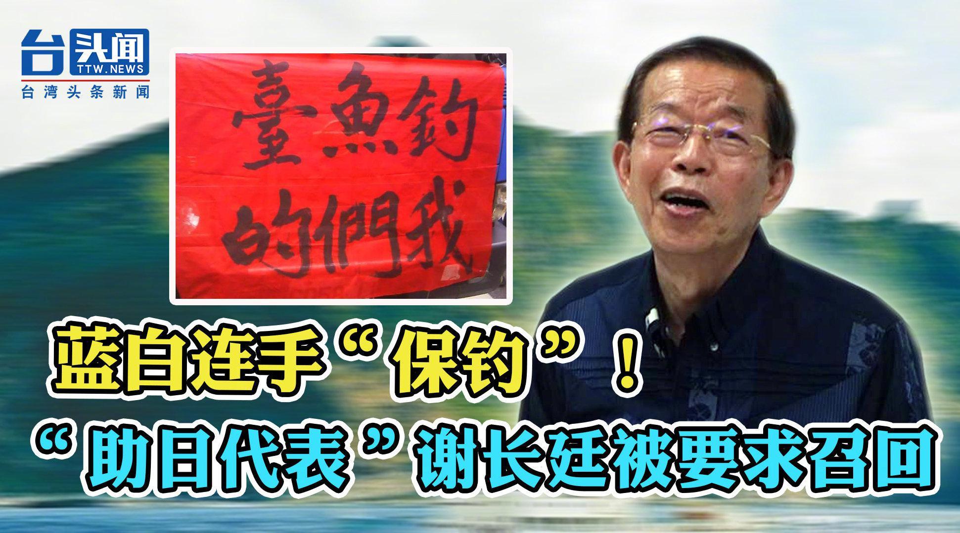 """蓝白连手""""保钓""""!强势喊话蔡英文出海、""""助日代表""""谢长廷回台"""