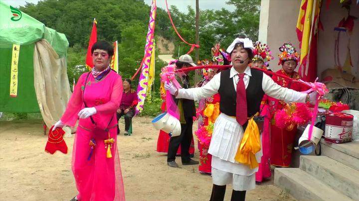 大门镇紫云山庙会,天水社火《系笼窗》,民俗文化值得传承