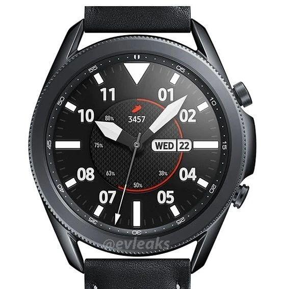 三星 Galaxy Watch 3渲染图再曝光,彩色表带设计