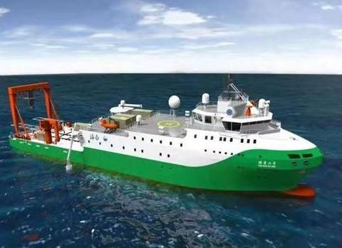 """中国万米载人潜水器首艘支持保障母船,""""探索二号""""助力深海科考"""