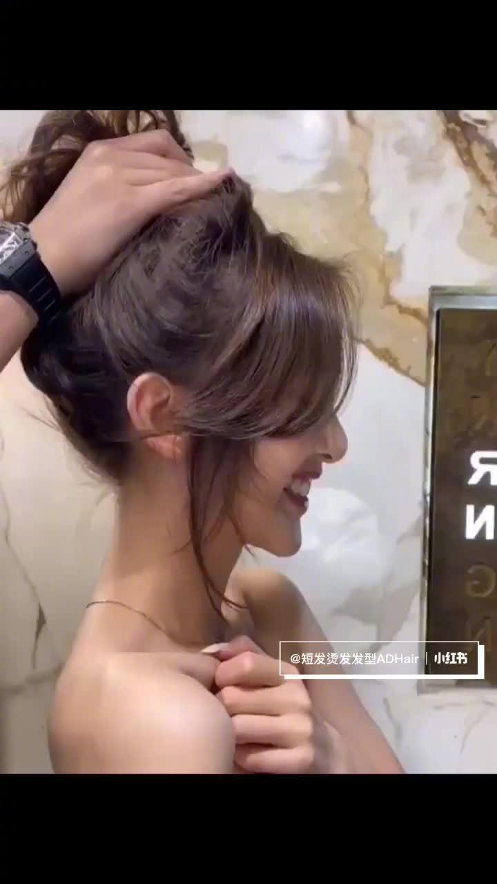 韩式八字修颜刘海~适合所有脸型 (ー`´ー)