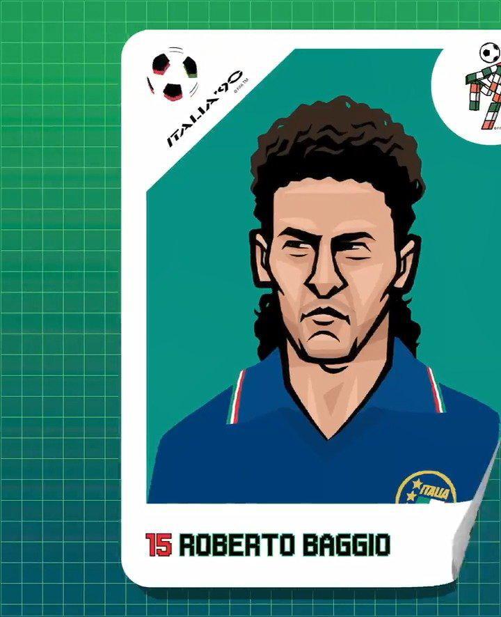 罗伯托·巴乔(Roberto Baggio)1990年在意大利大满贯的光彩~ 他