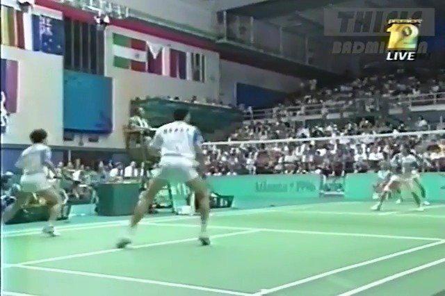 1996亚特兰大奥运会混双决赛,欣赏下朴柱奉的风采