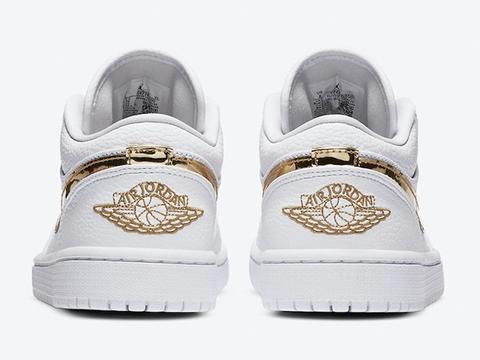 加入华丽的液态金属元素!这双AJ1小白鞋真是夏日绝配