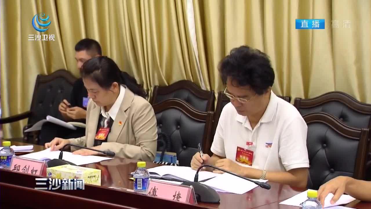 市委一届八次全会举行分组讨论:履行使命 勇于担当 为海南自贸港建设贡献三沙力量