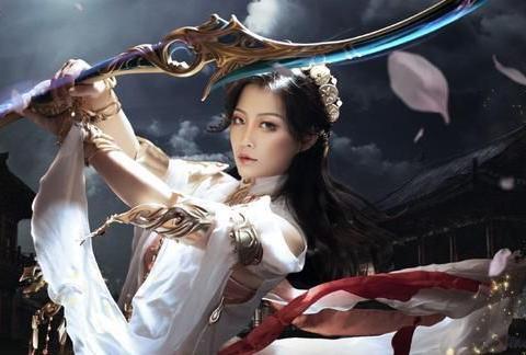 剑网3鹤梦喵姐和驰冥喵姐COS:日月同辉,相守一生