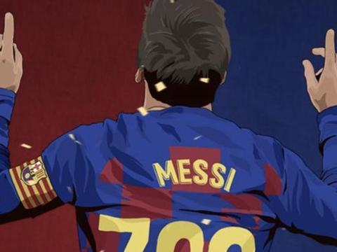 2-2!巴萨将冠军推向皇马,梅西解锁700球大关,主裁判吹3点球