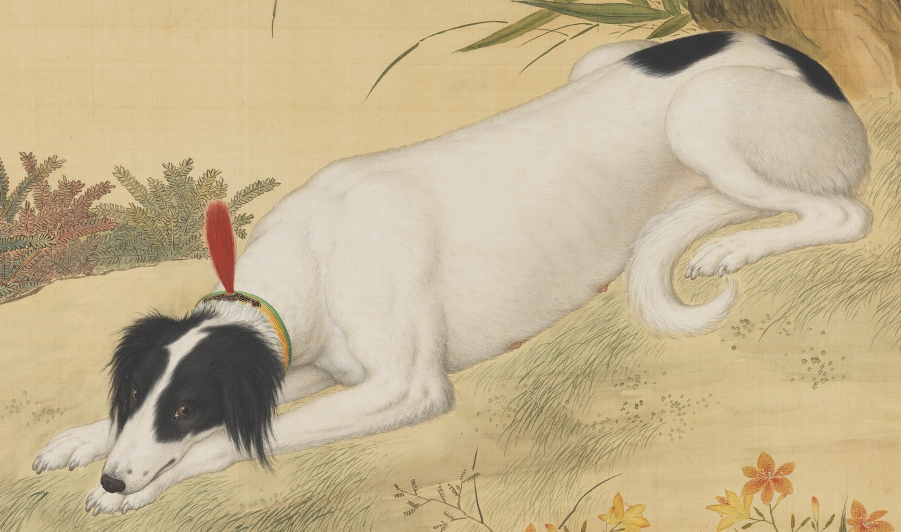 古作赏析:郎世宁《十骏犬图之蓦空鹊轴》