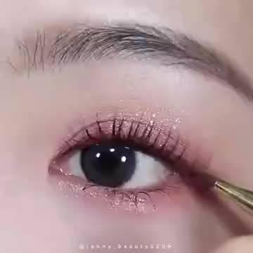 桃花粉棕眼妆晕染教程🌸