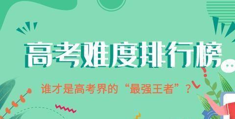 """中国各省高考""""王炸级""""难度排行榜上线 准备迎战吧!"""