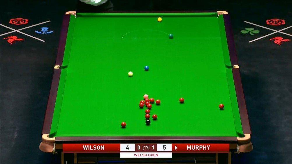 今年威尔士公开赛决赛,墨菲vsK-威尔逊。单赛季排名第二……