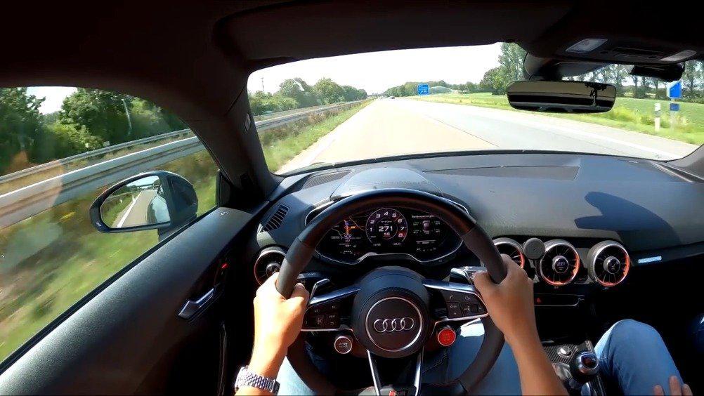 第一视角开豪车:奥迪TT RS改装版,最大马力提升至660匹……