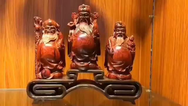 福禄寿 | 印度小叶紫檀 规格: 福7.8cm*7.4cm*15cm……