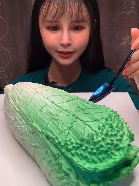 甜品欣儿高端慕斯终结者:新鲜大白菜