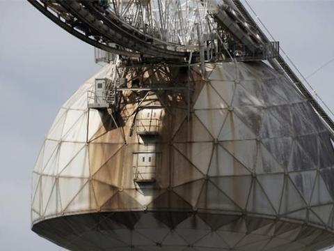 谁能想到多年后,曾经世界上最大的射电望远镜,变成一片垃圾场