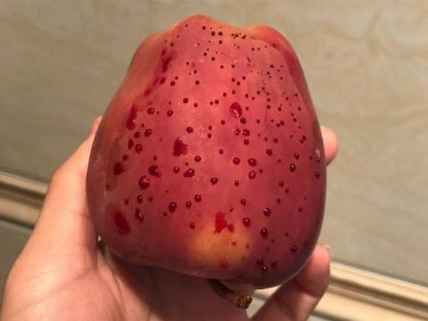 """女子刚洗完的苹果流出""""鲜血"""",刚要找水果店讨说法却被专家拦住"""