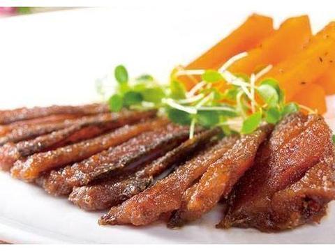 黑椒牛柳,三丝小凉拌,五香带鱼,干锅鱼