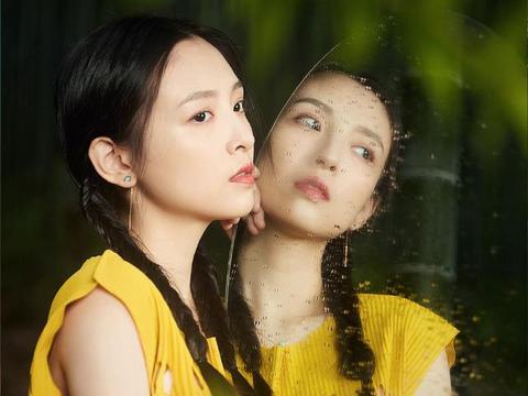 吴倩不愧是华策影视当家小花,穿黄裙梳麻花辫,气质甜美又清冷