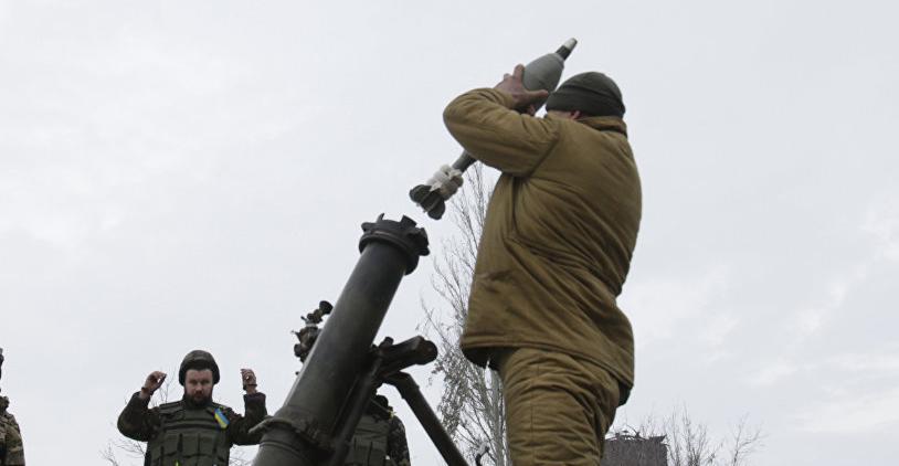 顿涅茨克共和国称,摧毁了乌克兰的迫击炮阵地