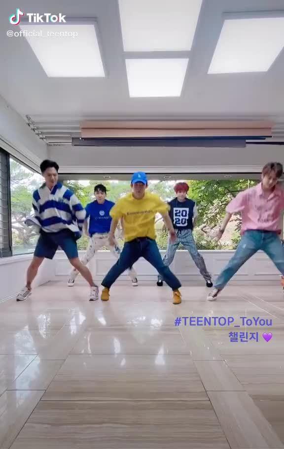 20200702 TEENTOP TikTok更新--TEENTOP展示的 TEENTOP_ToYou 挑