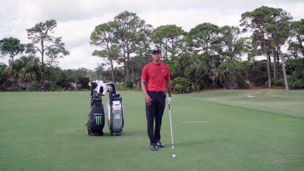 高尔夫职业教学课堂:伍兹教你打针刺球