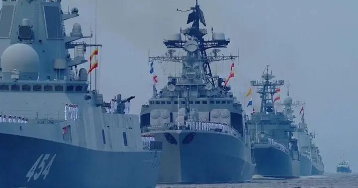 美国上将警告,俄海军在地中海大编队出动,美航母舰队四面楚歌