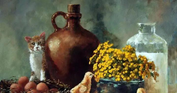 俄罗斯画家泽尔特·瓦伦蒂诺维奇动物与风景油画欣赏