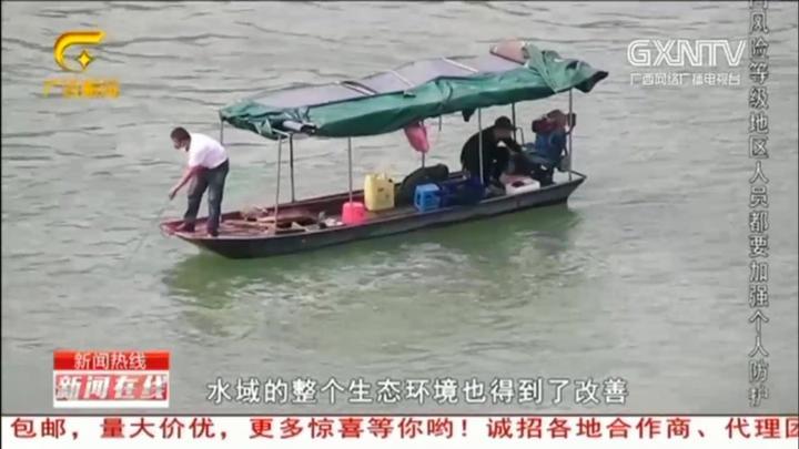梧州:珠江流域禁渔期结束,开渔首日,渔民们纷纷满载而归