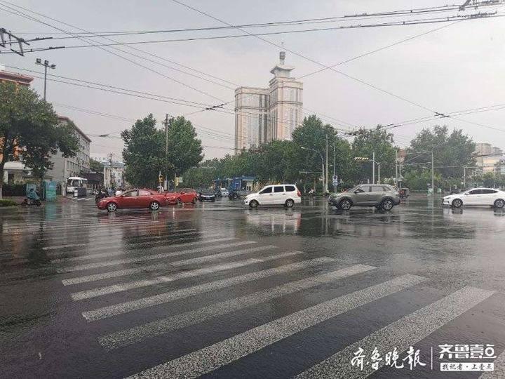 瓢泼大雨 济南发布雷电黄色预警 未来两天都有雨