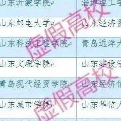 """24所!山东""""野鸡大学""""名单曝光!""""青岛""""打头的就有好几所"""